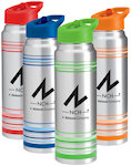 32oz Striped Aluminum Water Bottles